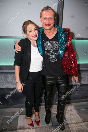 Rita Simons (Miss Hedge) and Bill Ward (Hugo/Loco Chanelle) backstage