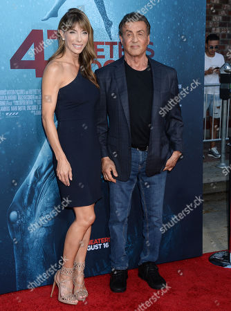 Scarlet Rose Stallone and Sylvester Stallone