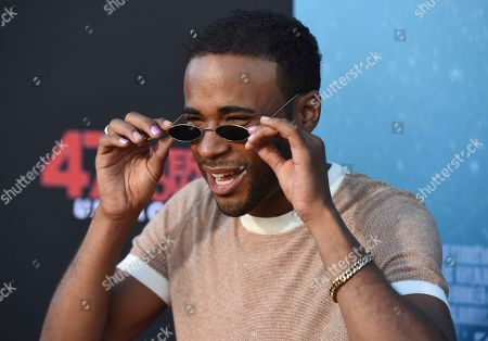 """Khylin Rhambo arrives at the Los Angeles premiere of """"47 Meters Down: Uncaged"""" at the Regency Village Theatre on"""
