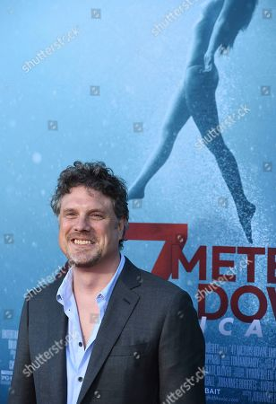 "Johannes Roberts arrives at the Los Angeles premiere of ""47 Meters Down: Uncaged"" at the Regency Village Theatre on"