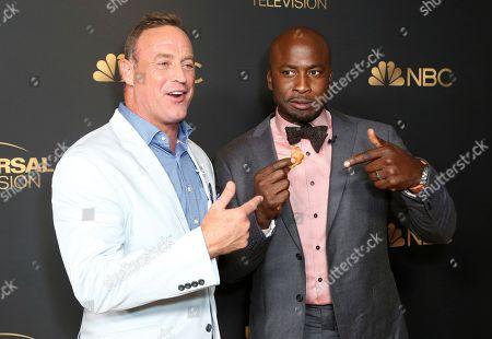 Matt Iseman, Akbar Gbajabiamila. Matt Iseman, left, and Akbar Gbajabiamila attend the NBC and Universal Television Emmy Nominee Celebration at Tesse, in West Hollywood, Calif