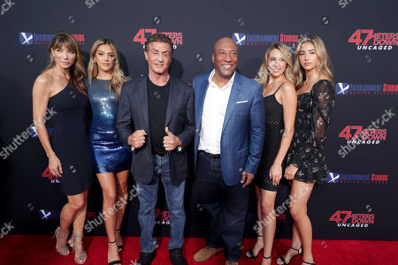 Jennifer Flavin, Sistine Rose Stallone, Sylvester Stallone, Byron Allen, Founder, Chairman, and Chief Executive Officer, Entertainment Studios, Sophia Rose Stallone, Scarlet Rose Stallone
