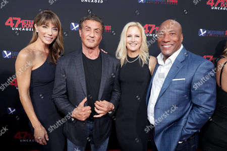 Jennifer Flavin, Sylvester Stallone, Jennifer Lucas, Byron Allen, Founder, Chairman, and Chief Executive Officer, Entertainment Studios,