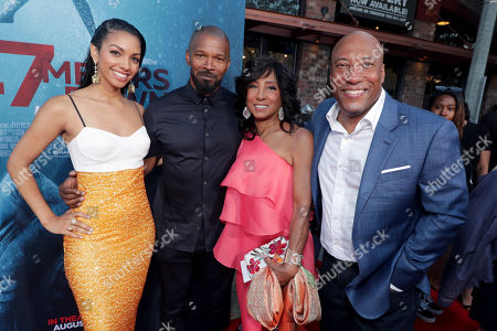 Corinne Bishop, Jamie Foxx, Carolyn Folks, Executive Producer, Byron Allen, Founder, Chairman, and Chief Executive Officer, Entertainment Studios,