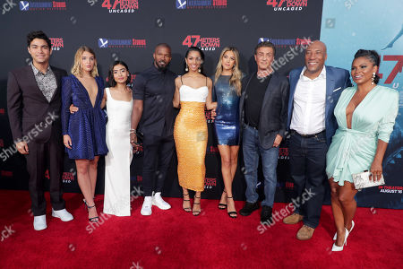 Davi Santos, Sophie Nélisse, Brianne Tju, Jamie Foxx, Corinne Bishop, Sistine Rose Stallone, Sylvester Stallone, Byron Allen, Founder, Chairman, and Chief Executive Officer, Entertainment Studios, Nia Long