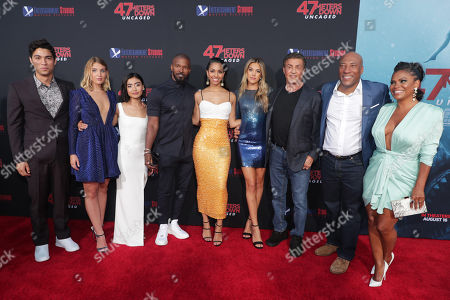 Davi Santos, Sophie NŽlisse, Brianne Tju, Jamie Foxx, Corinne Bishop, Sistine Rose Stallone, Sylvester Stallone, Byron Allen, Founder, Chairman, and Chief Executive Officer, Entertainment Studios, Nia Long