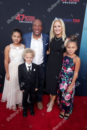 Byron Allen, Founder, Chairman, and Chief Executive Officer, Entertainment Studios, Jennifer Lucas, family
