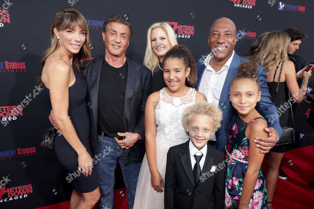 Stock Photo of Jennifer Flavin, Sylvester Stallone, Jennifer Lucas, Chloe Ava Allen, Lucas Byron Allen, Byron Allen, Founder, Chairman, and Chief Executive Officer, Entertainment Studios, Olivia Rose Allen
