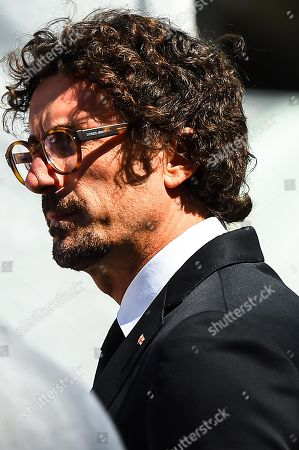 Italian Transport Minister Danilo Toninelli after an official ceremony on the first anniversary of the Morandi highway bridge collapse, in Genoa, northern Italy, 14 August 2019. The motorway bridge partially collapsed on 14 August 2018, killing 43 people.