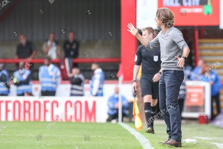 17th August 2019 , Griffin Park, London, England; Sky Bet Championship, Brentford vs Hull City  ;Thomas Frank manager of Brentford gives his team instructions during the game  Credit: Matt O?Connor/News Images,