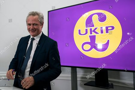 Editorial photo of Newly appointed leader of UKIP Richard Braine hosts press conference, London, United Kingdom - 08 Aug 2019