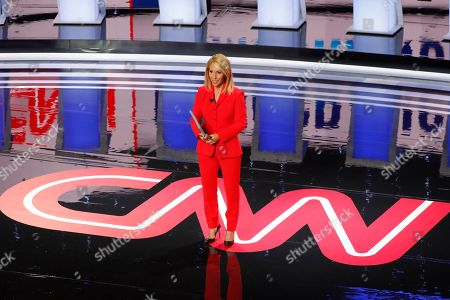 Dana Bash speaks before the first of two Democratic presidential primary debates hosted by CNN, in the Fox Theatre in Detroit