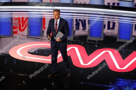 Stock Picture of Jake Tapper speaks before the first of two Democratic presidential primary debates hosted by CNN, in the Fox Theatre in Detroit