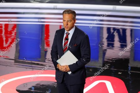 Jake Tapper speaks before the first of two Democratic presidential primary debates hosted by CNN, in the Fox Theatre in Detroit