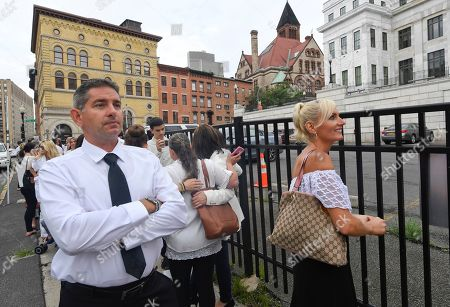 Stock Photo of John Cook, Evanna Cook. John Cook and his wife Evanna Cook, of Riverhead, N.Y., stand in line to hear Attorneys Michael H. Sussman and Robert F. Kennedy, Jr. to speak during a hearing challenging the constitutionality of the state legislature's repeal of the religious exemption to vaccination on behalf of New York state families who held lawful religious exemptions, during a rally outside the Albany County Courthouse, in Albany, N.Y