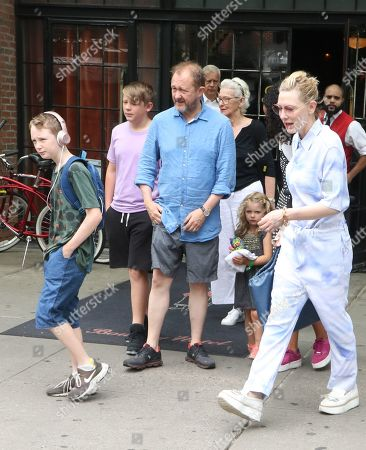 Stock Photo of Ignatius Martin Upton, Roman Robert Upton, Andrew Upton, June Blanchett, Edith Upton and Cate Blanchett