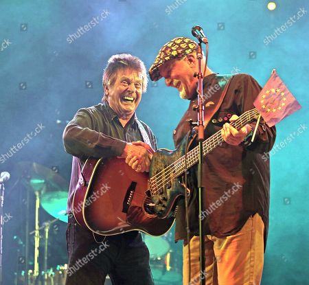 Stock Picture of Joe Brown and Dave Pegg from Fairport Convention