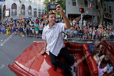 Baseball Hall of Famer Randy Johnson documents his ride through downtown Williamsport, Pa., as the Grand Marshall of the Little League Grand Slam Parade . The Little League World Series baseball tournament, featuring 16 teams from around the world, starts August 15, 2019 in South Williamsport, Pa