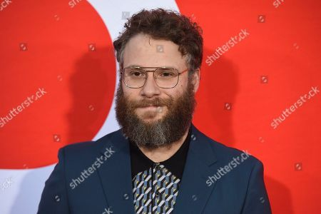 """Seth Rogen arrives at the premiere of """"Good Boys"""", at the Regency Village Theatre in Los Angeles"""