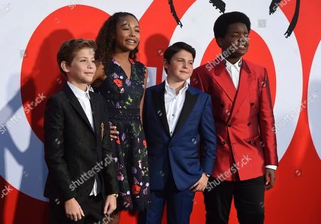 "Jacob Tremblay, Millie Davis, Brady Noon, Keith L. Williams. Jacob Tremblay, from left, Millie Davis, Brady Noon and Keith L. Williams arrive at the premiere of ""Good Boys"", at the Regency Village Theatre in Los Angeles"