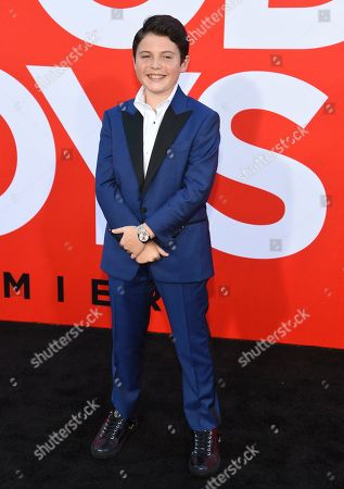 """Brady Noon arrives at the premiere of """"Good Boys"""", at the Regency Village Theatre in Los Angeles"""