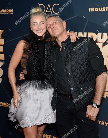 Julianne Hough and Adam Shankman