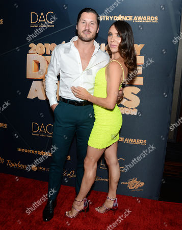 Stock Image of Valentin Chmerkovskiy and Jenna Johnson