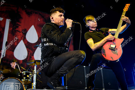 Stock Image of AFI - Davey Havok, Adam Carson and Jade Puget