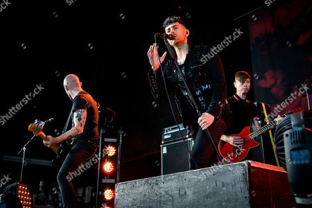 AFI - Hunter Burgan, Davey Havok and Jade Puget