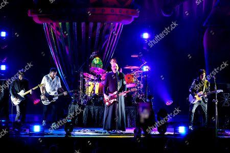 Stock Photo of The Smashing Pumpkins - Jeff Schroeder, Jack Bates, Billy Corgan and James Iha