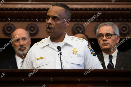 Philadelphia Police Commissioner Richard Ross speaks during a news conference at City Hall in Philadelphia, . A gunman, identified as Maurice Hill, wounded six police officers before surrendering early Thursday, after a 7 ½-hour standoff