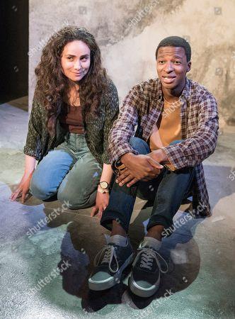 Stock Picture of Yasmin Paige as Amber, Simon Manyonda as Tom