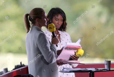 BBC presenters Denise Lewis and Gabby Logan