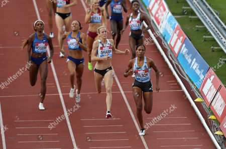 Stock Photo of Usa's Ajee Wilson wins the 800m final with Great Britain's Lynsey Sharp in second place