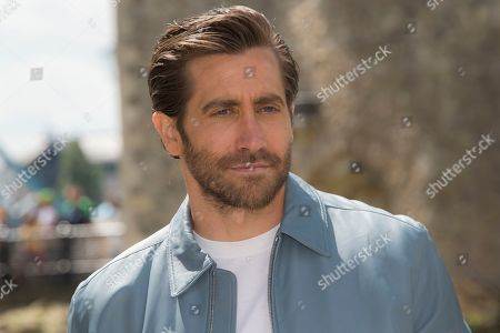 "Jake Gyllenhaal poses for photographers upon arrival at the photo call for 'Spiderman: Far From Home' in London. Gyllenhaal attributes conquering his fear of performing in a one-man play, by watching the Oscar-winning documentary about the free climber Alex Honnold. Few performances are as daunting as the one-person play. That's why Jake Gyllenhaal had to find a way to conquer that fear when he took on the role of Abe in the second half of ""Sea Wall/A Life"