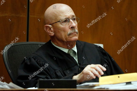 Judge Larry Fidler listens to the guilty verdict on all charges of Michael Thomas Gargiulo at the Clara Shortridge Foltz Criminal Justice Center in Los Angeles, California, USA, 15 August 2019. Michael Gargiulo, also called the 'Hollywood Ripper', has been found guilty on all counts and two first degree murders.