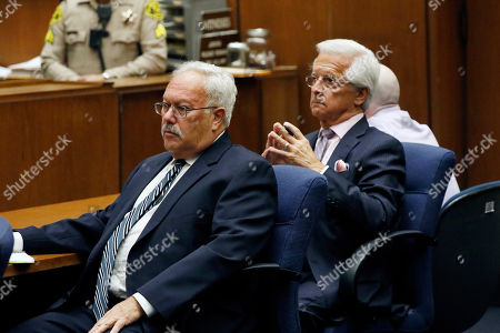 Defense attorneys Dale Michael Rubin (L), Daniel Nardoni (C) and Michael Thomas Gargiulo listen to the guilty verdict on all charges at the Clara Shortridge Foltz Criminal Justice Center in Los Angeles, California, USA, 15 August 2019. Michael Gargiulo, also called the 'Hollywood Ripper', has been found guilty on all counts and two first degree murders.