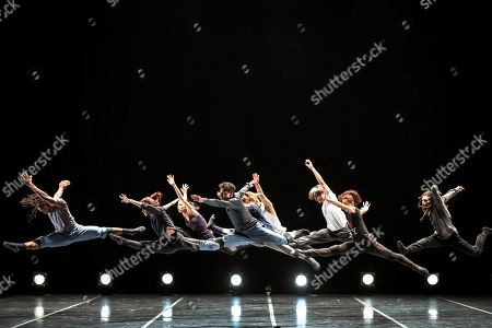 Cuban dancer Carlos Acosta and his dancers from 'Acosta Danza' dance company perform on stage at the Peralada Dance Festival in Peralada, Catalonia, Spain, 15 August 2019.