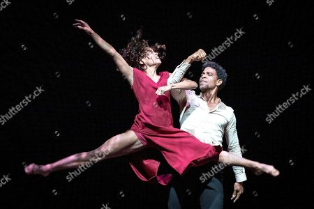 Cuban dancer Carlos Acosta (R) and his dancers from 'Acosta Danza' dance company perform on stage at the Peralada Dance Festival in Peralada, Catalonia, Spain, 15 August 2019.