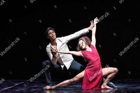 Cuban dancer Carlos Acosta (L) and his dancers from 'Acosta Danza' dance company perform on stage at the Peralada Dance Festival in Peralada, Catalonia, Spain, 15 August 2019.