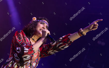 Dorka Gryllus sings during the Woodstock 50 music event in Budapest Park, in Budapest, Hungary, 15 August 2019. The event was organized to mark the 50th anniversary of the legendary Woodstock festival held between 15-18 August, 1969, in Bethel, New York, USA.