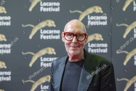 Stock Image of Swiss Photographer Michel Comte at the red carpet on the Piazza Grande, at the 72th Locarno International Film Festival in Locarno, Switzerland, 15 August 2019. The Festival del film Locarno runs from 07 to 17 August.