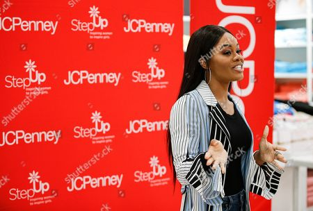 Olympic gold medalist Gabby Douglas teams up with JCPenney to surprise deserving teens from Step Up Dallas with $500 shopping sprees to help them head back to school with confidence in Dallas