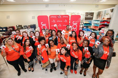 Olympic gold medalist Gabby Douglas joins a group of Step Up Dallas students for a shopping spree at JCPenney to help them prepare for the school year ahead in Dallas