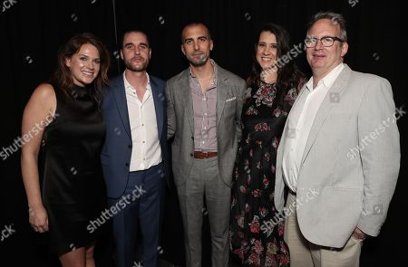 Amazon Studios Co-Head of Motion Picture Production Julie Rapaport, Matthew Plouffe, Paul Downs Colaizzo, Margot Hand and Amazon Studios Co-Head of Motion Picture Production Ted Hope