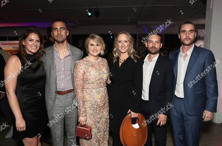 Amazon Studios Co-Head of Motion Picture Production Julie Rapaport, Paul Downs Colaizzo, Jillian Bell, Head of Amazon Studios Jennifer Salke, Tobey Maguire and Matthew Plouffe