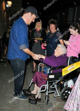 Brian Conley with fan