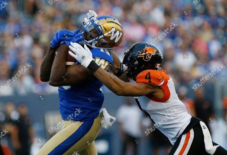 Editorial picture of CFL Lions Blue Bombers Football, WINNIPEG, Canada - 13 Aug 2019