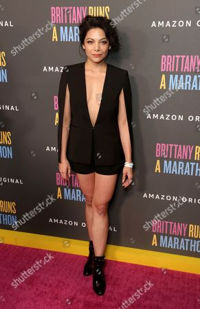 "Ginger Gonzaga attends the LA Premiere of ""Brittany Runs a Marathon"" at th Regal LA Live & 4DX, in Los Angeles"