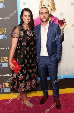 "Margot Hand, Matthew Plouffe. Margot Hand, left, and Matthew Plouffe attend the LA Premiere of ""Brittany Runs a Marathon,"" at the Regal LA Live & 4DX, in Los Angeles"